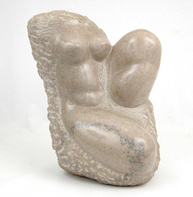 501: Clara Nathanson marble sculpture of a female torso