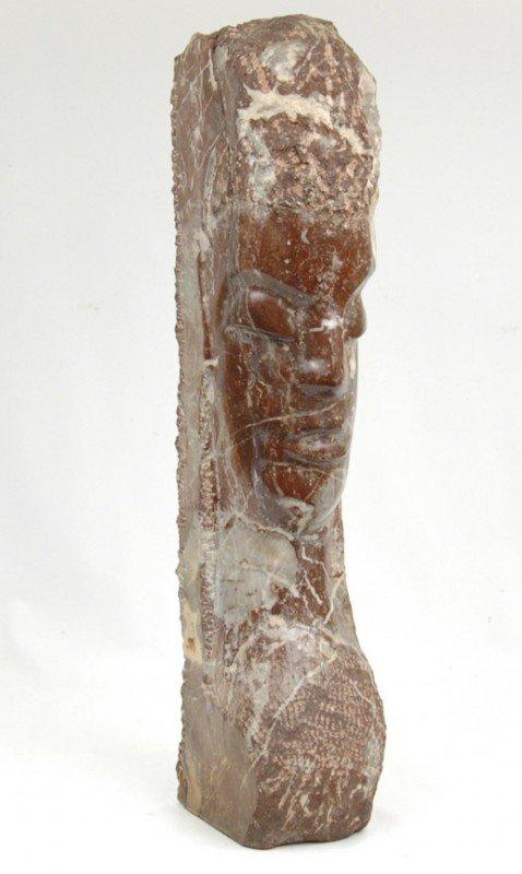 503: Clara Nathanson brown marble sculpture of a female