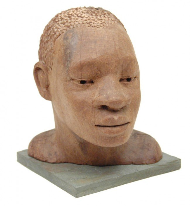 511: Gidi, wooden carving of a Matabele Zulu from the Z