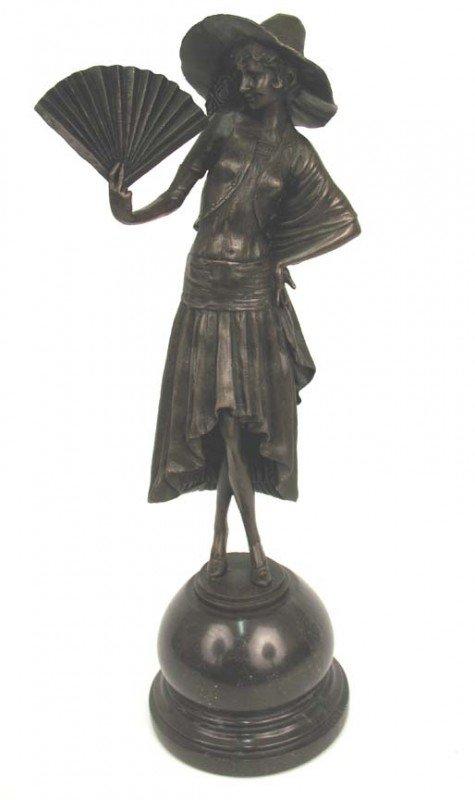 512: P. (Paul) Philippe bronze figure of woman holding