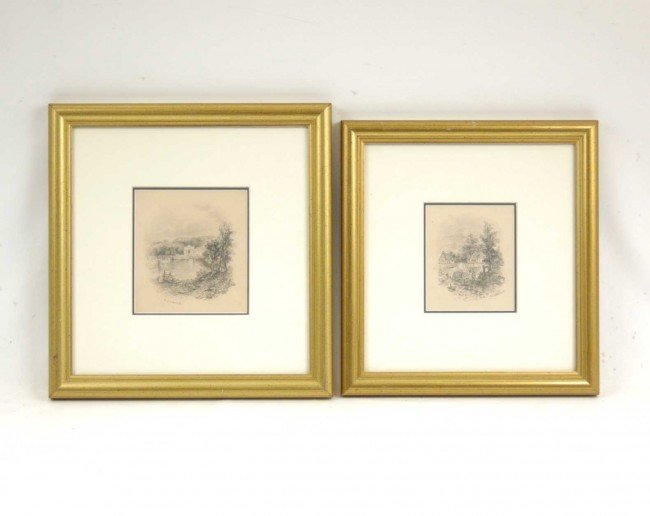 513: T. (Thomas) S. Cooper graphite on paper, pair of g