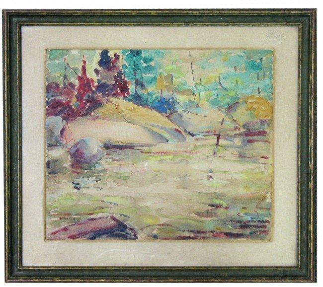 515: H. (Herbert) N. (Nelson) Hooven watercolor, landsc