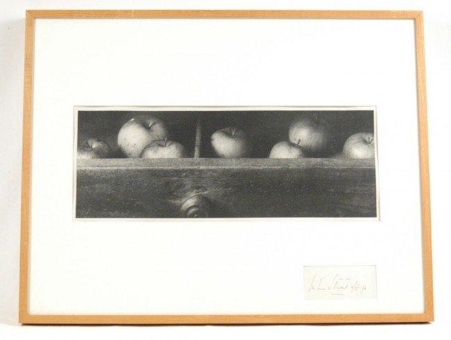 519: John Stewart print of a charcoal on paper, still l