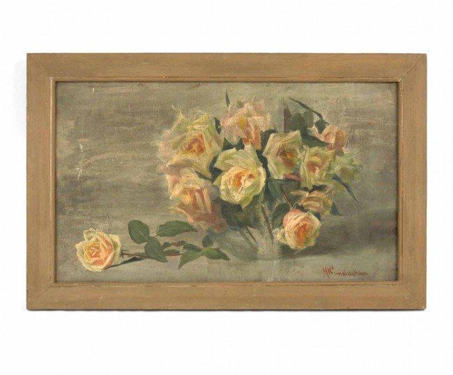521: M. (Mary) I. (Ivins) Cunningham oil on canvas, sti