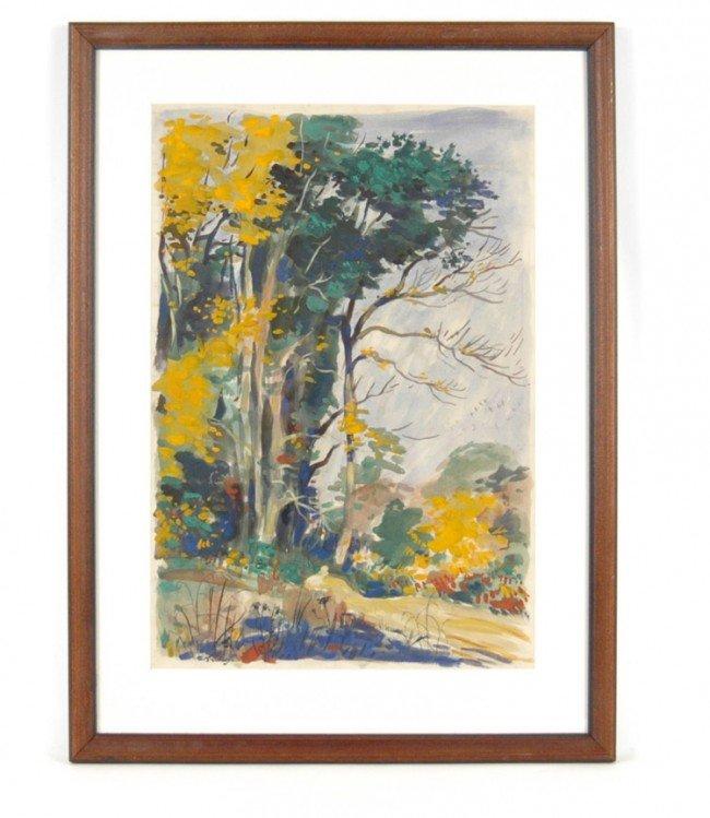522: T. (Thornton) Oakley watercolor, landscape, signed