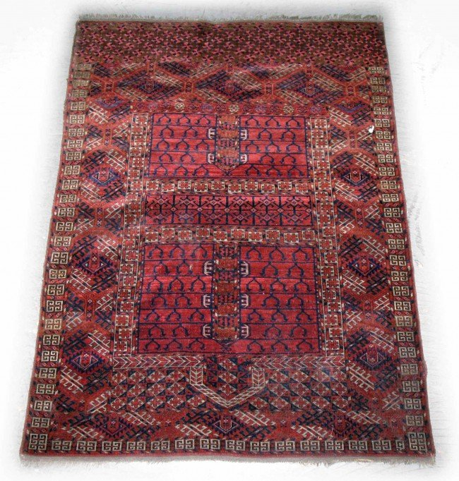 """600: Hand tied rug, """"Tekke Turkoman"""", C. 1900, measures"""