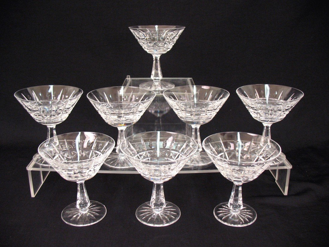 "8: Waterford crystal stemware, eight ""Kylemore"" champag"