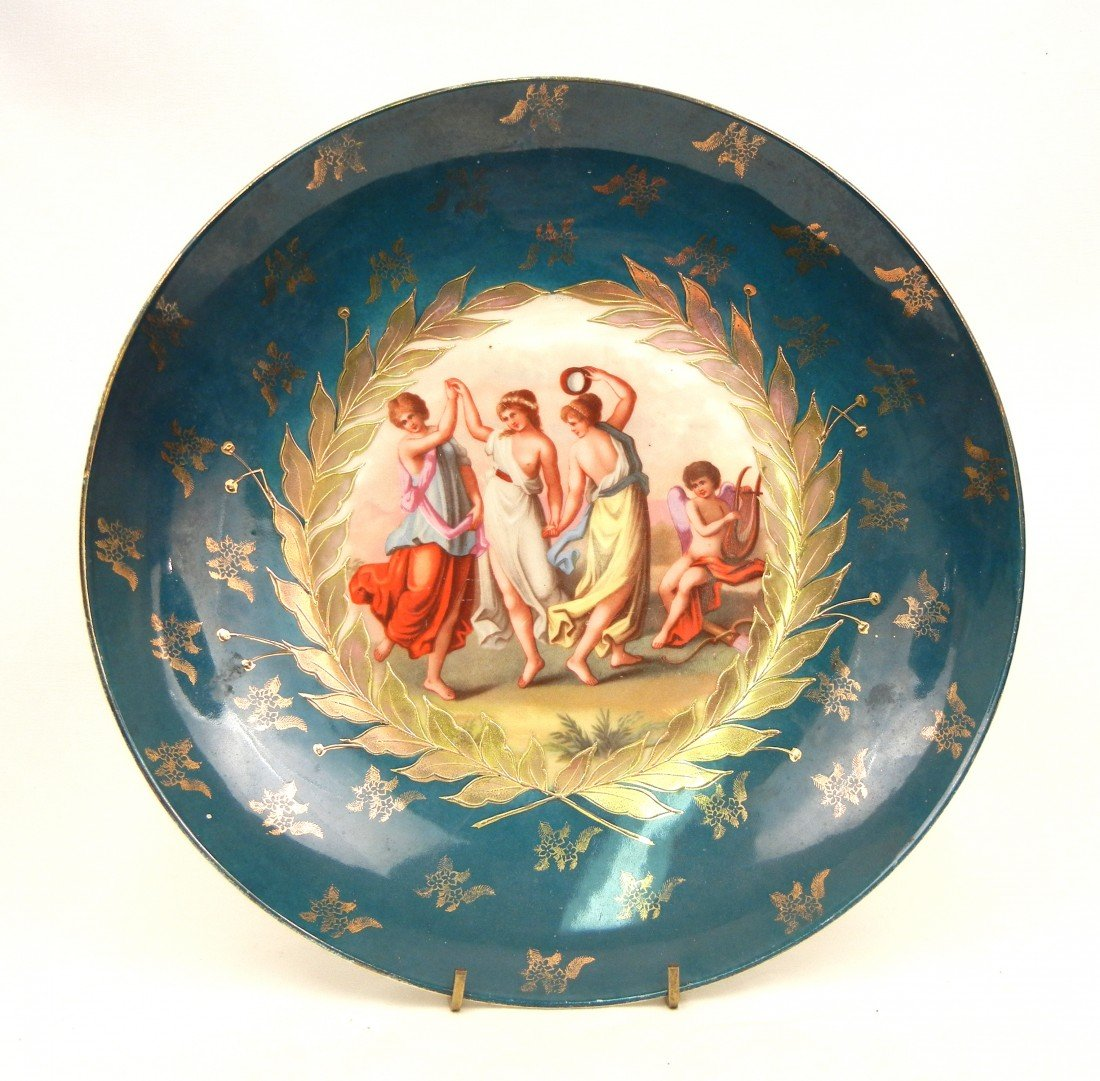 21: Victoria Austria hand painted cabinet plate, depict