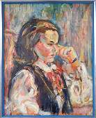 286 Charles Frith oil on canvas portrait of a woman