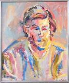 287 C Charles Frith oil on canvas portrait of a m