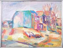 288 C Charles F Frith oil on canvas demolition