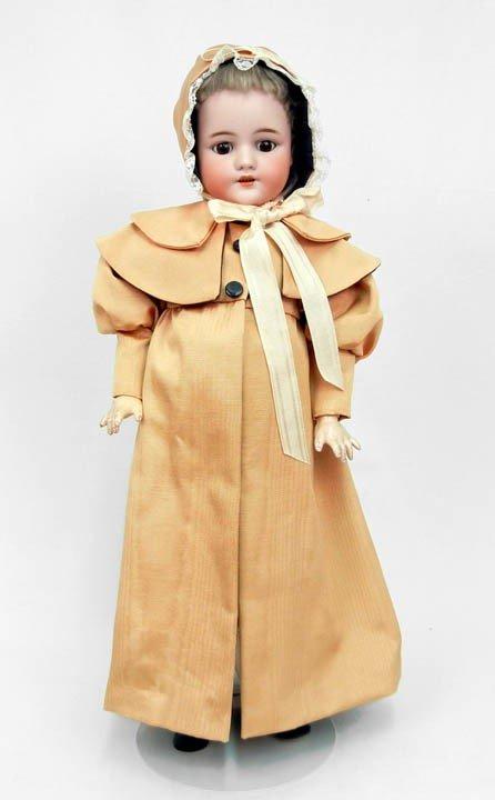 "610: Simon & Halbig bisque head doll, 23"", original moh"
