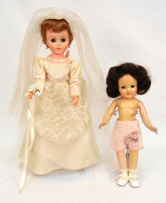 "614: Two dolls: Toni doll by Ideal, 14"", hard plastic w"
