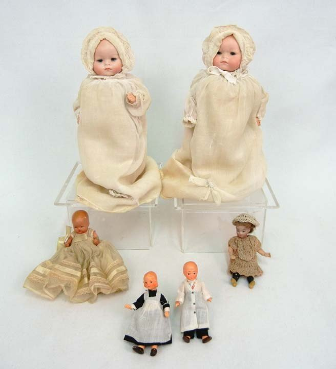 620: One lot of six dolls, including two Recknagel char