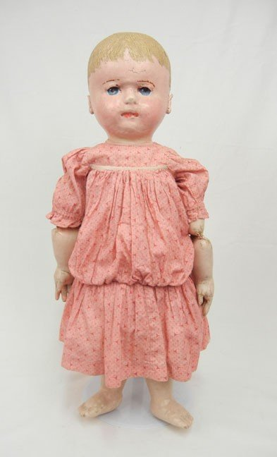 """622: Martha Chase doll, 24"""", painted and molded oil clo"""