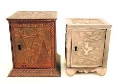 706 Arabian cast iron safe bank and key lock safe ban