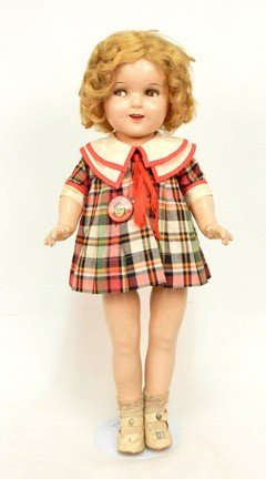 """640A: Ideal Shirley Temple composition doll, 20"""""""