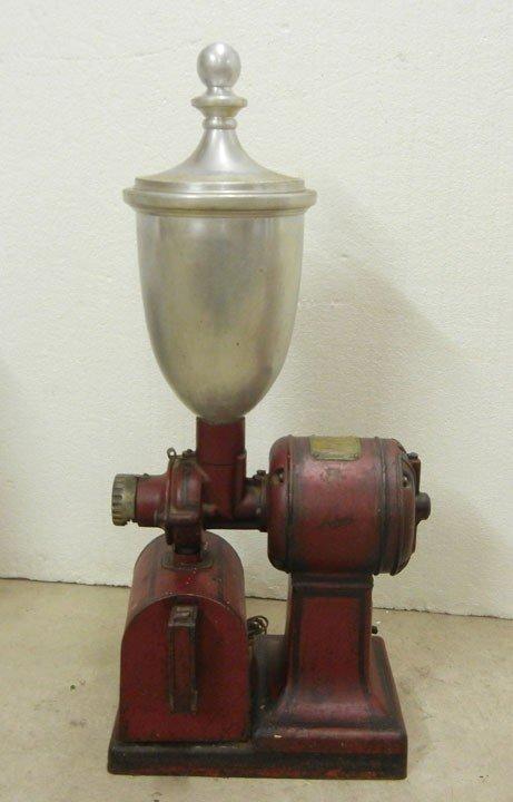 473: Vintage Hobart electric coffee grinder with manufa