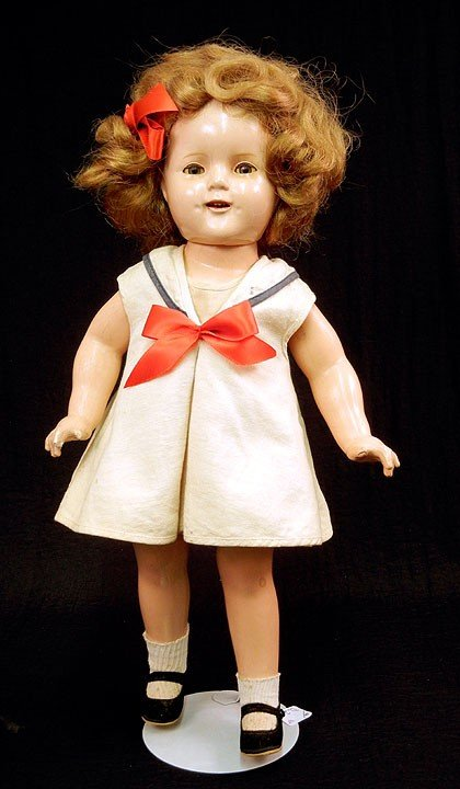 2: Shirley Temple composition doll, sleep eyes, open mo