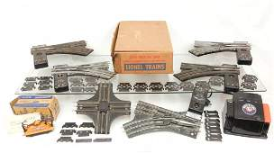 """125: Lionel grouping of one pair of No. 042 """"O"""" gauge s"""