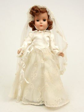 7A: 1950 Arranbee (R&B) Bride doll, all