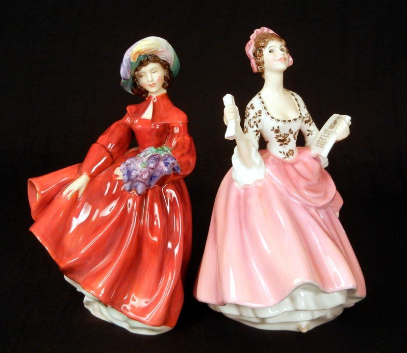 """7: Two Royal Doulton figurines """"Lilac Time"""" HN 2137, 7"""