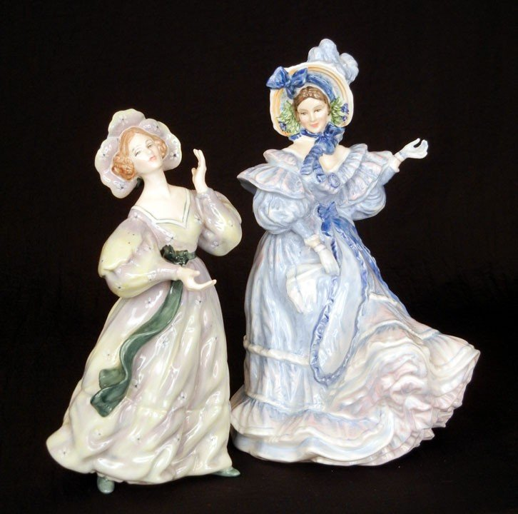 """10: Two Royal Doulton figurines """"Grand Manner"""" HN 2723,"""
