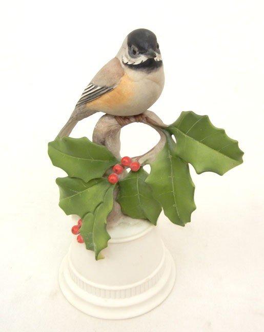 "11: Boehm bird figurine ""Black-capped Chickadee, 8 1/2"""