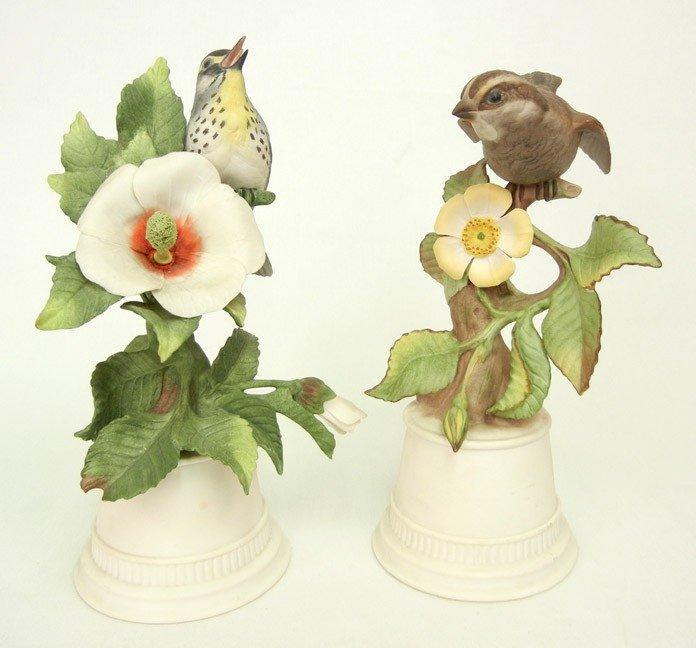 "12: Two Boehm bird figurines ""Yellow Throated Warbler"""