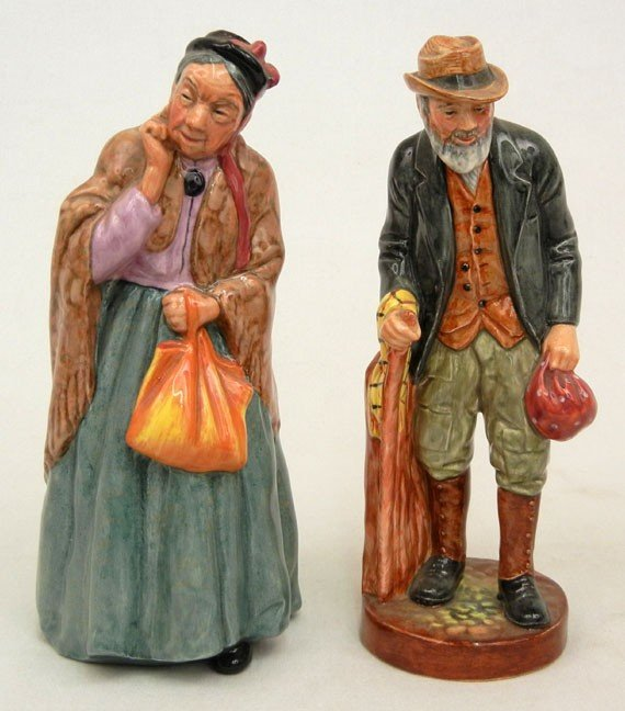"""13: Two Royal Doulton figurines """"The Gaffer"""" HN 2053 8"""""""
