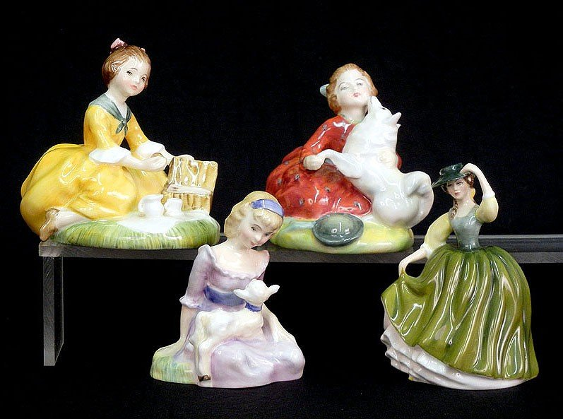 """16: Four Royal Doulton figurines including """"Buttercup"""""""