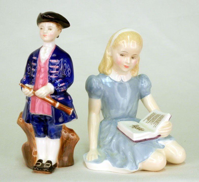 """18: Two Royal Doulton figurines """"Alice"""" HN 2158 4 3/4"""","""