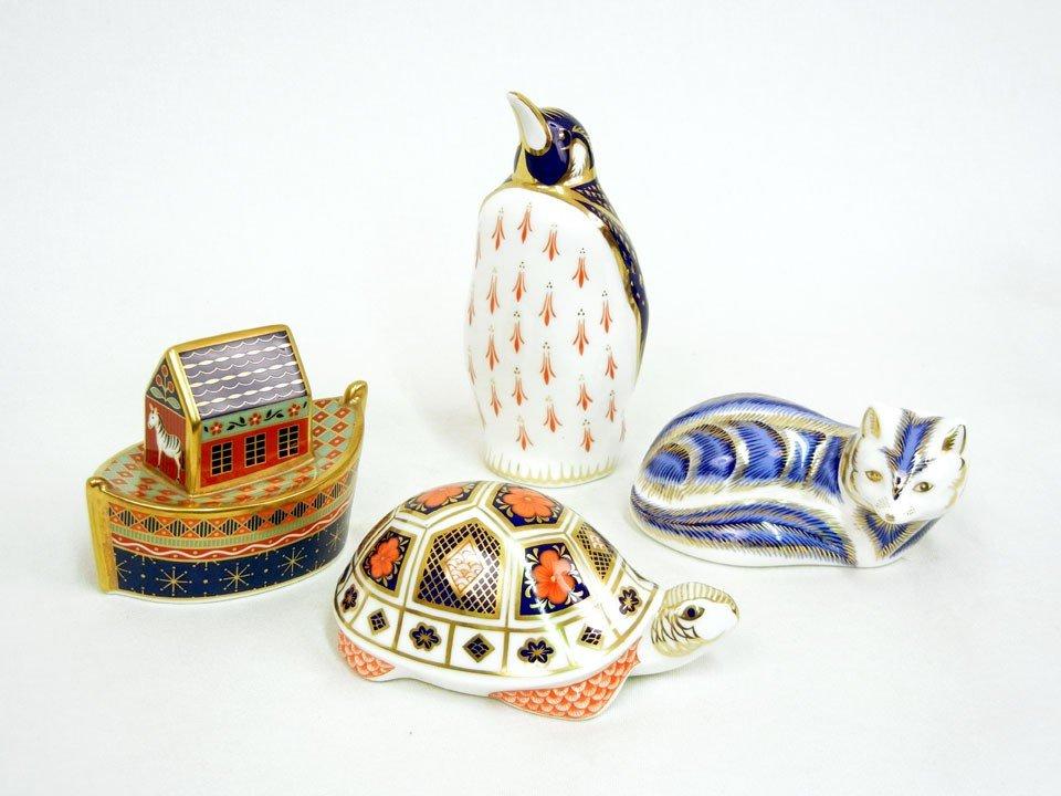 21: Four Royal Crown Derby figurines including three Im