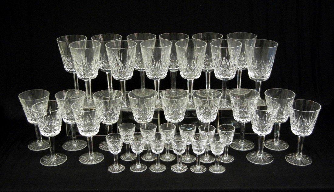"42: Set of Waterford ""Lismore"" crystal stemware, servic"