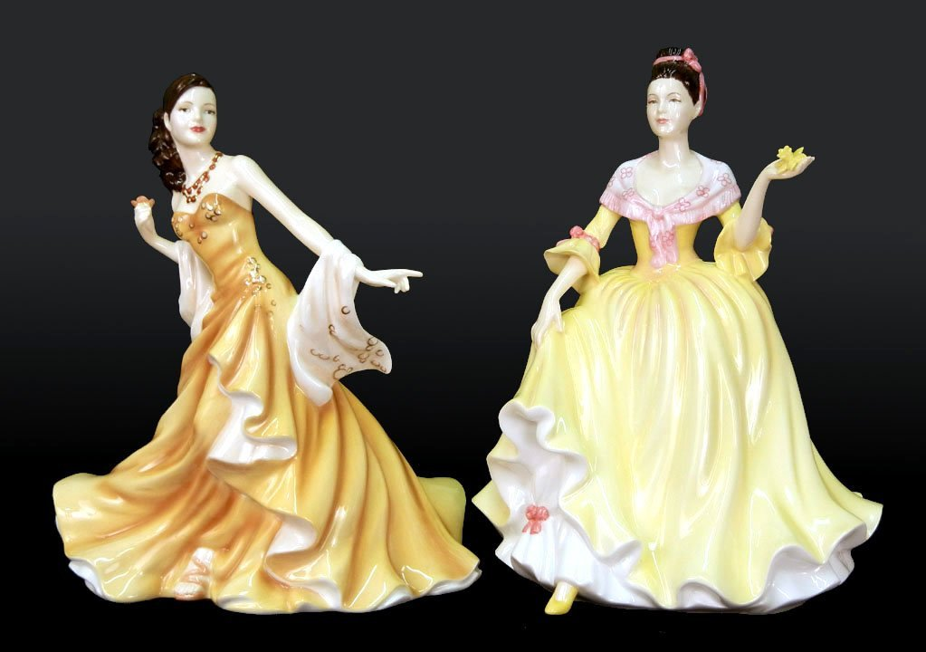 "2: Two Royal Doulton figurines, ""Welsh Beauty"" HN 5032,"