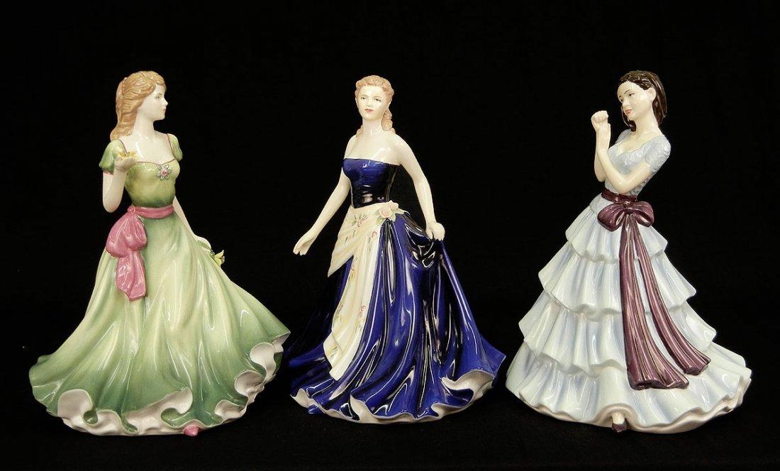 "3: Three Royal Doulton figurines, ""Olivia"" Figure of th"