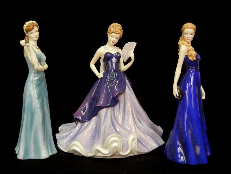 "5: Three Royal Doulton figurines, ""Tin"" 10th Anniversar"