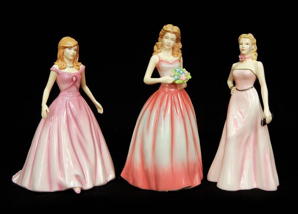 "6: Three Royal Doulton figurines, ""Olivia""  HN 4766, 8"
