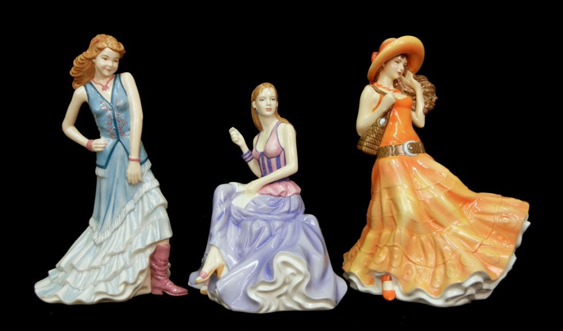 "7: Three Royal Doulton figurines, ""Best Wishes""  HN 514"