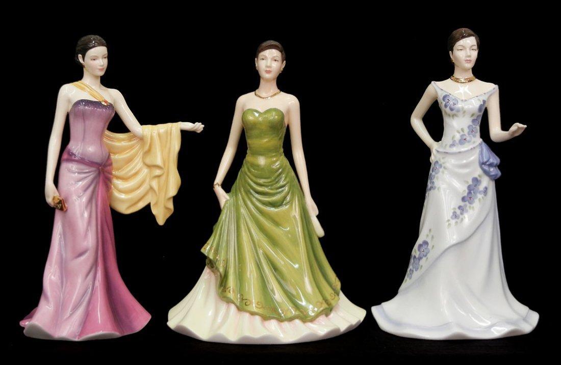 "8: Three Royal Doulton figurines, ""Charlotte""  HN 4919,"