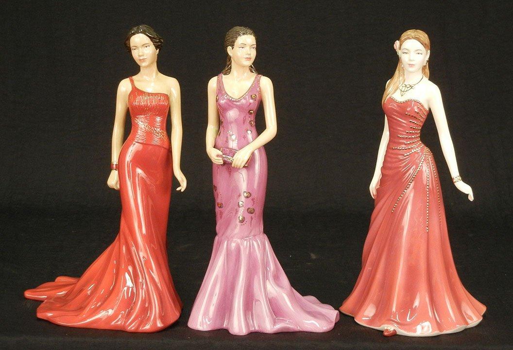 "9: Three Royal Doulton figurines, ""Emma""  HN 4922, 9"","