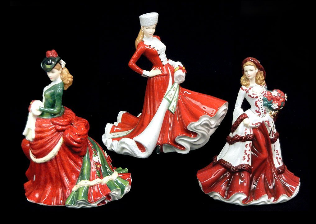 "11: Three Royal Doulton figurines, ""Christmas Day 2008"""