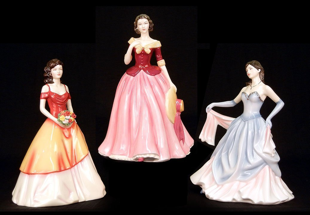"13: Three Royal Doulton figurines, ""Lily""  HN 5116, 9 1"
