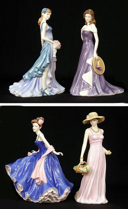 "14: Four Royal Doulton figurines, ""First Love""  HN 5145"