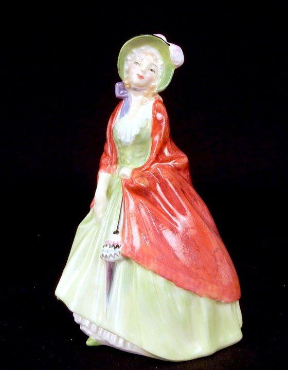 "19: Royal Doulton figurine, ""Paisley Shawl"" RD No. 7531"