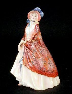 "Royal Doulton Figurine, ""Paisley Shawl""  HN 1987, 8"