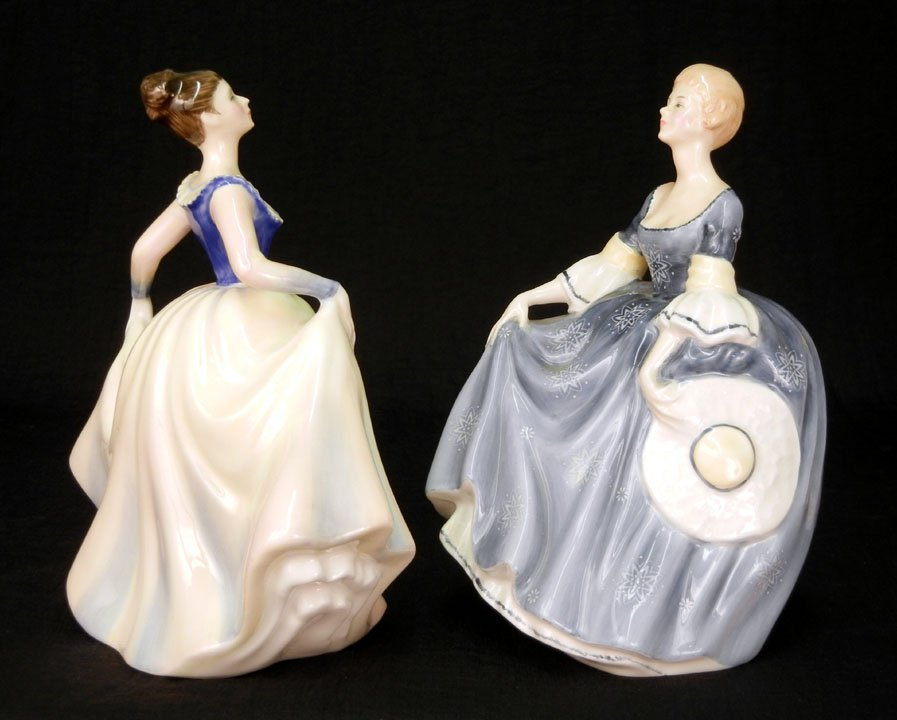 "22: Two Royal Doulton figurines, ""Hilary"" HN 2335, 7"","