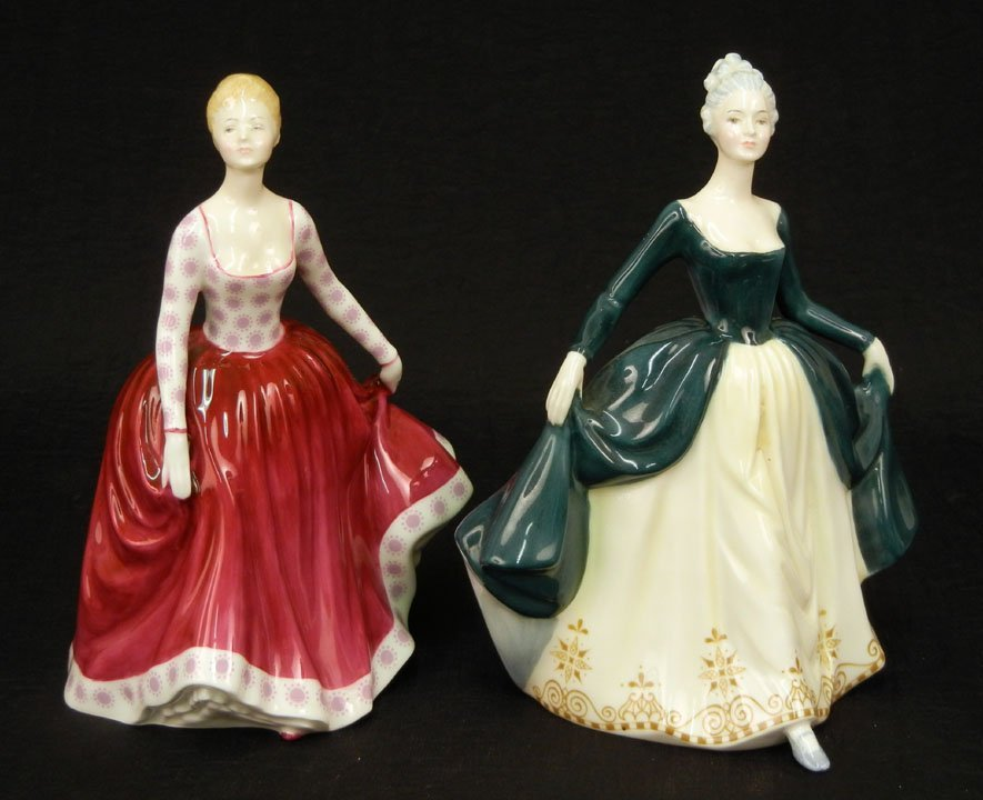 "29: Two Royal Doulton figurines ""Fiona"" HN 2694, 8"", C."