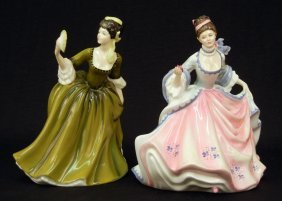 "Two Royal Doulton Figurines ""Rebecca"" HN 2805, 8"","