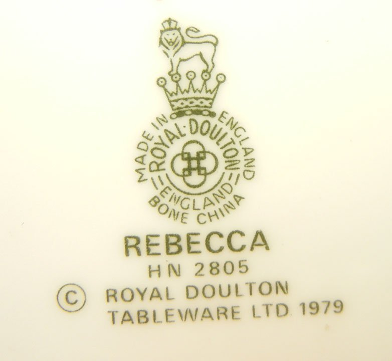 "30: Two Royal Doulton figurines ""Rebecca"" HN 2805, 8"",  - 2"